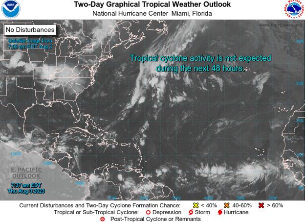 Current Atlantic Tropical Map