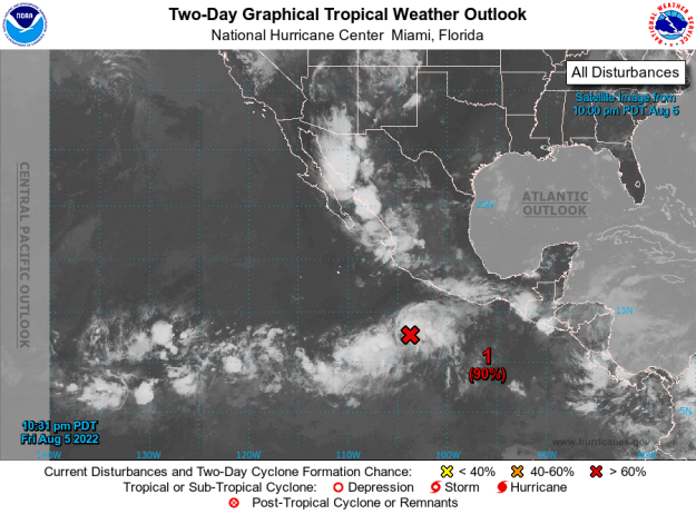 Current Pacific Tropical Map