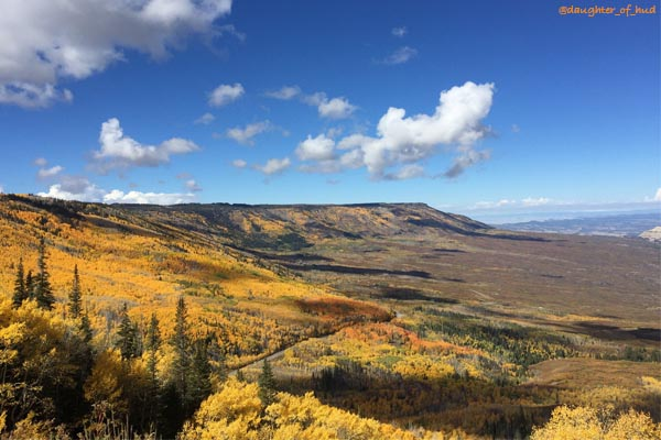 Rim of the Grand Mesa in full Autumn color
