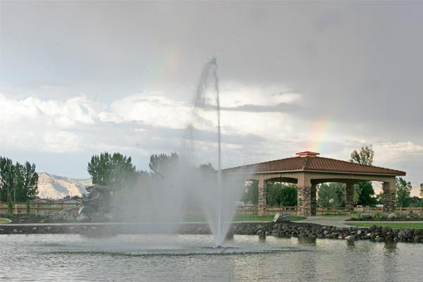 Adobe Falls fountain & Gazebo