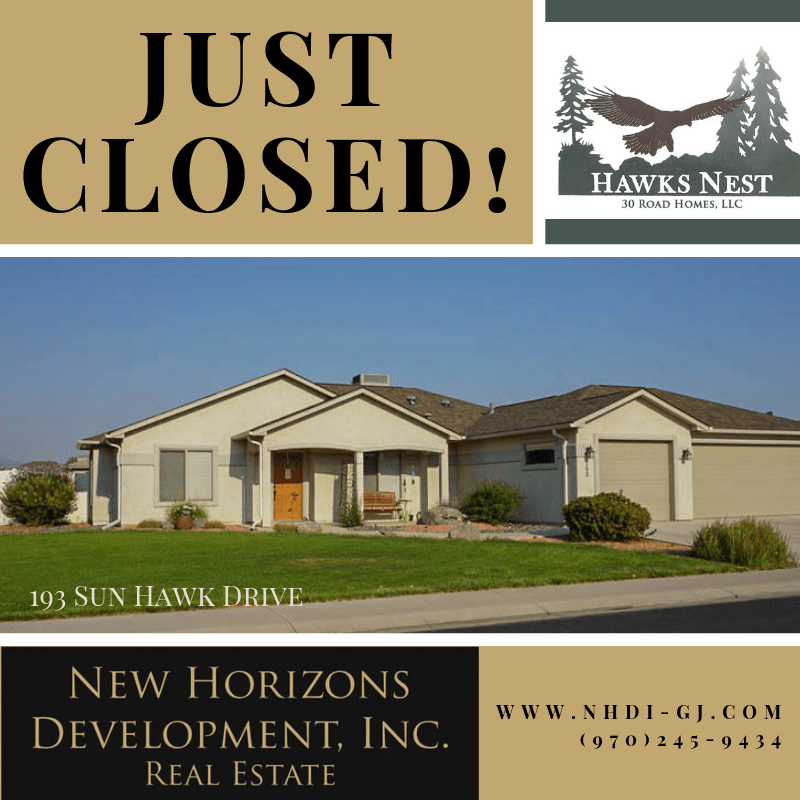 193 Sun Hawk Drive has closed!