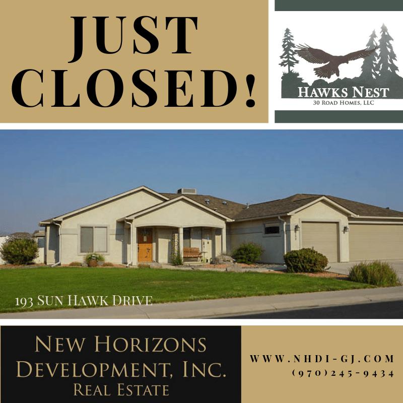 193 Sun Hawk Drive has closed!