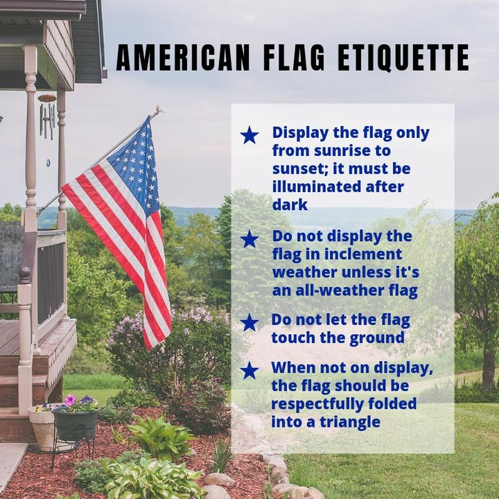 With Flag Day this week and the 4th of July just around the corner, here are tips from the official Rules of American Flag Etiquette on the proper way to represent.