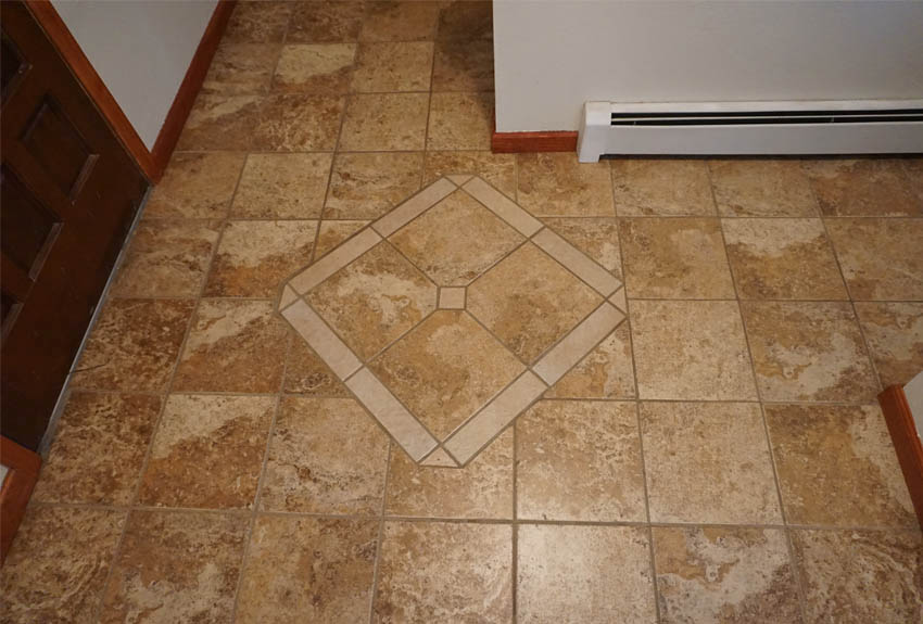 Entry way tile in 2575 young court