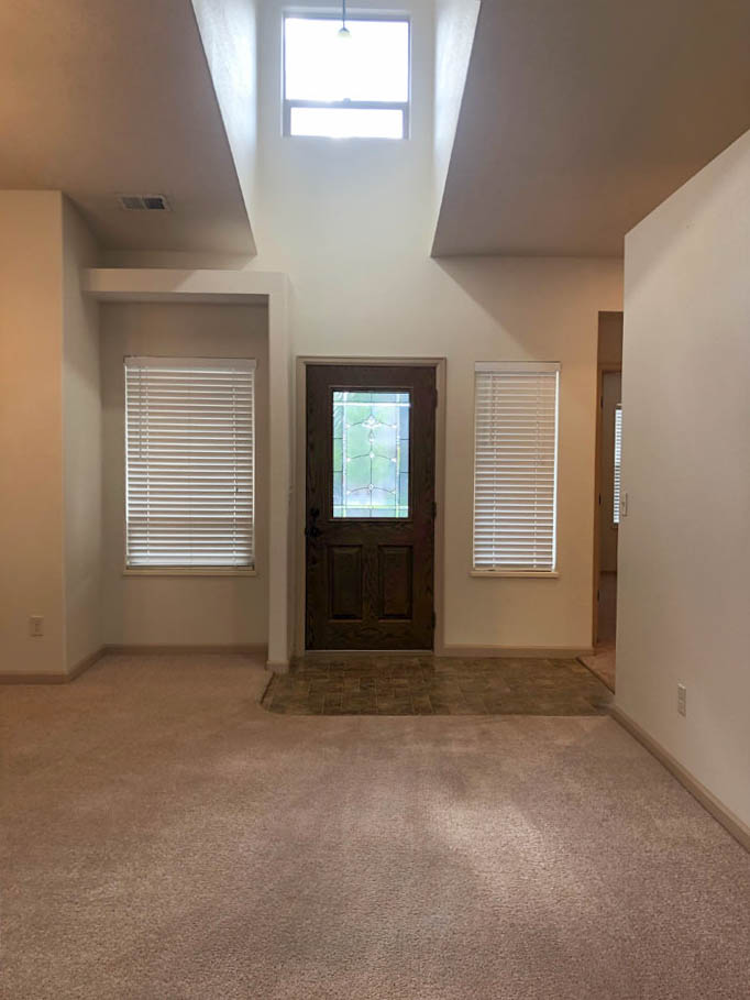 177 Winter Hawk Drive's entry has a high window to let in natural light