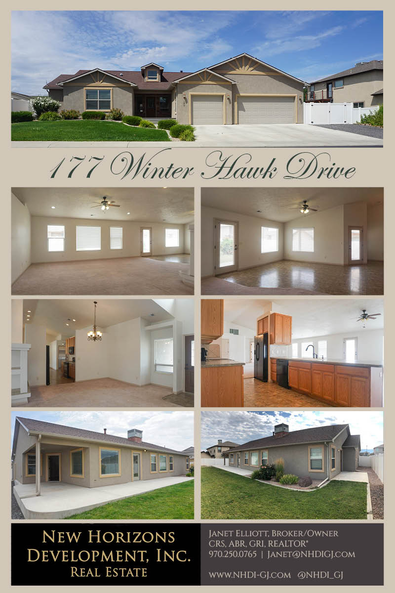177 Winter Hawk - a 3 bedroom, 2 bath home in Hawks Nest Subdivision. Formal living room, large family room, dining area and breakfast nook! Master includes a walk-in closet, 5-piece bath with corner soaking tub, step-in shower, and his & hers vanities PLUS a private patio perfect for a hot tub! Call NHDI today for more info!