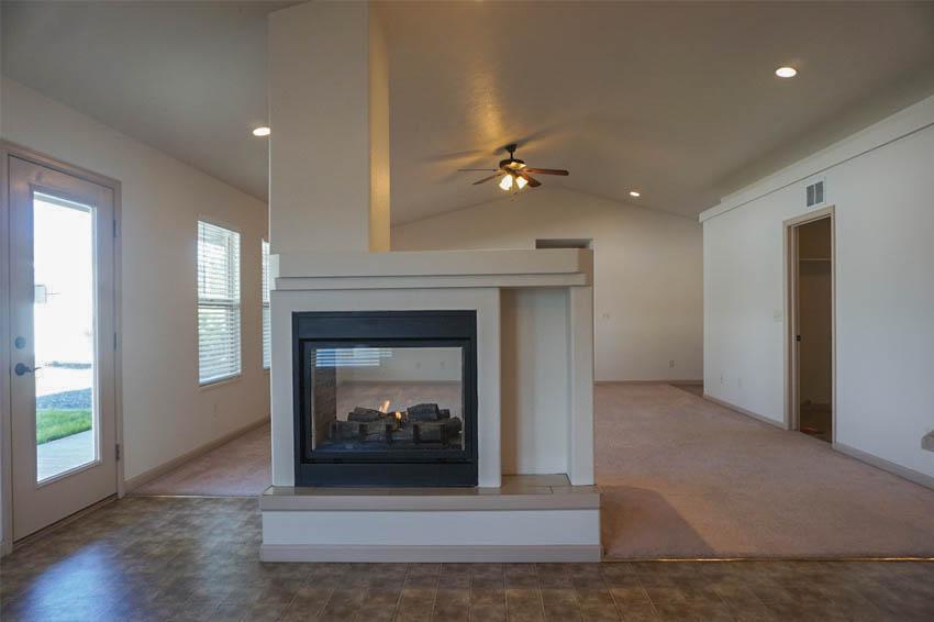 Double sided fireplace in 199 Winter Hawk