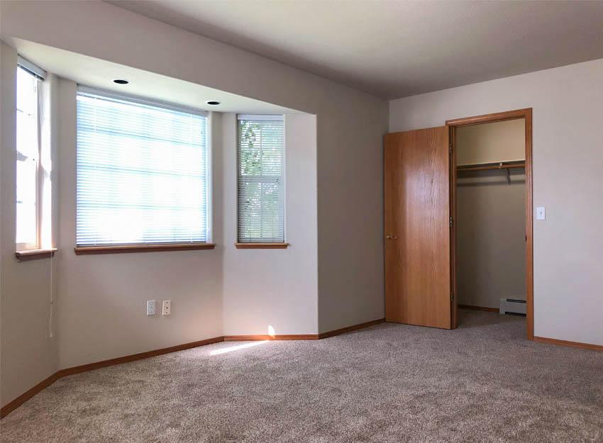Master Bedroom with bay window & walk-in closet