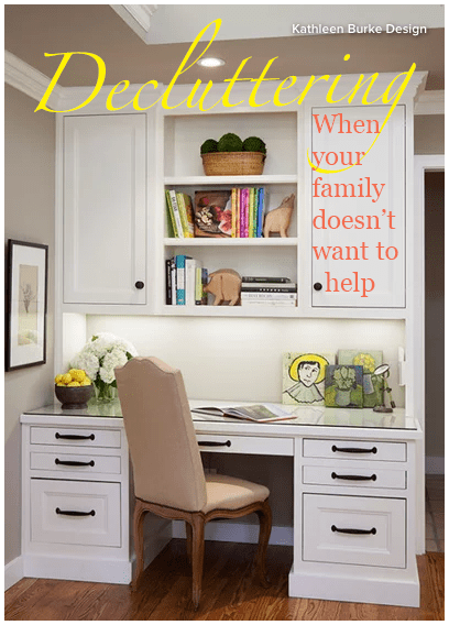 Ah, decluttering. How do you clear out the clutter in your home when your family isn't on board? Here are some tips from Houzz.com!
