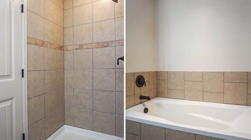 Step in shower & soaking tub