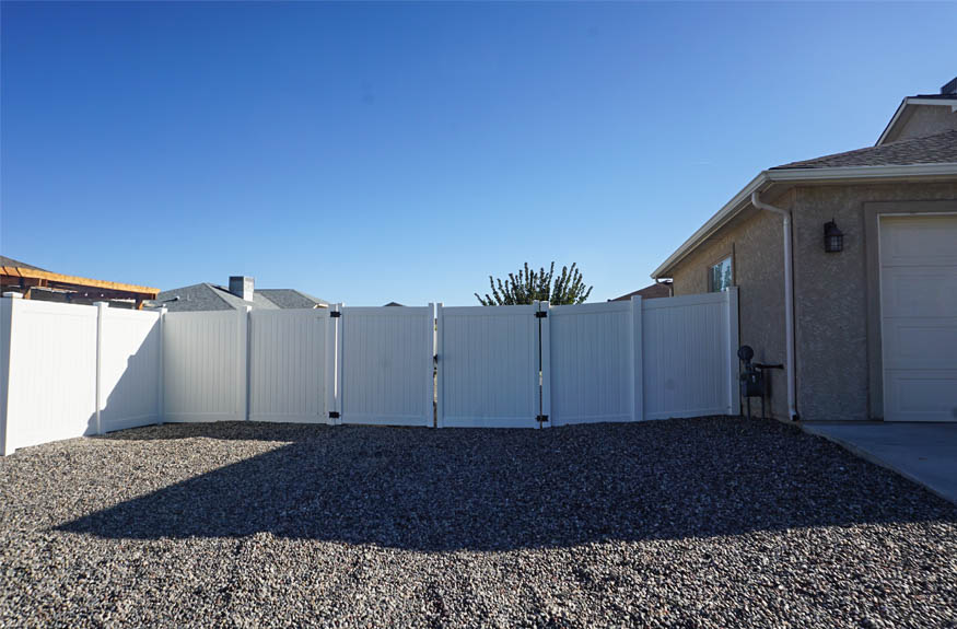 The RV area has a 10-foot access gate
