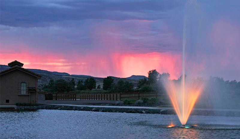 Sunset at the Adobe Falls Park in Fruita, CO