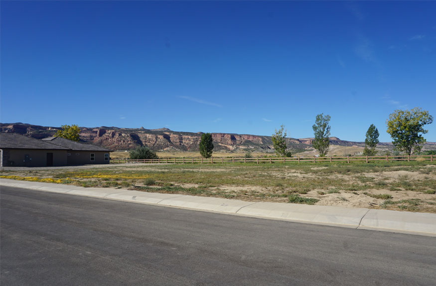 View of Colorado National Monument from 1325 Fairway Drive in Fruita, CO