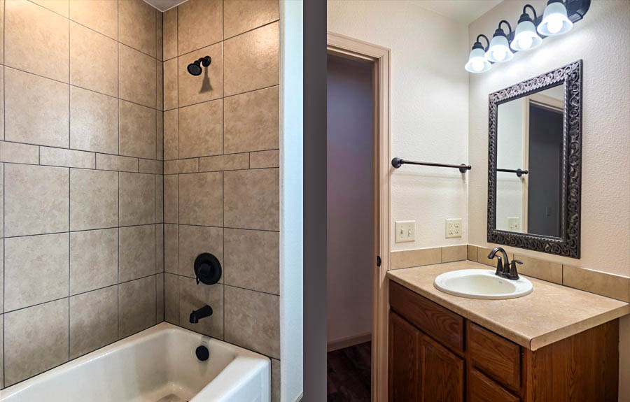 164 Winter Hawk has a jack & jill styled hall bath with access from both the front bedroom & hall.