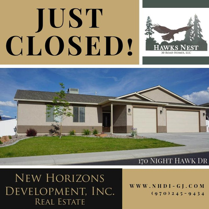 170 Night Hawk Drive has closed!  Night Hawk Drive is officially sold out.   Welcome to the neighborhood!