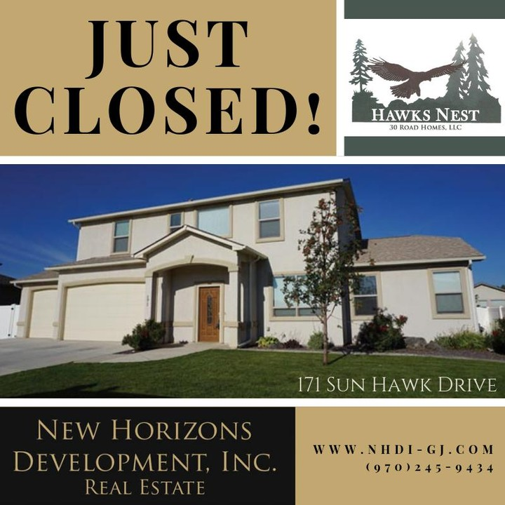 171 Sun Hawk Drive has closed! Welcome to the neighborhood!