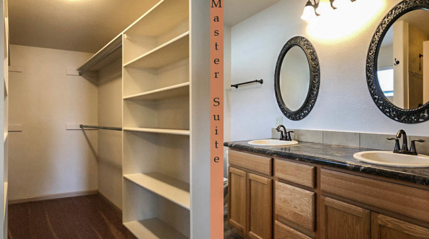 The master suite includes a large walk-in closet and large 5-piece ensuite bath.