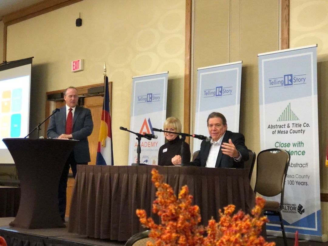 It was great to have Senator Ray Scott and Representative Janice Rich share at our Fall Luncheon today! Thanks to you both for sharing your insights on what is happening in Denver, and for representing Grand Junction and Mesa County interests at the state level.
