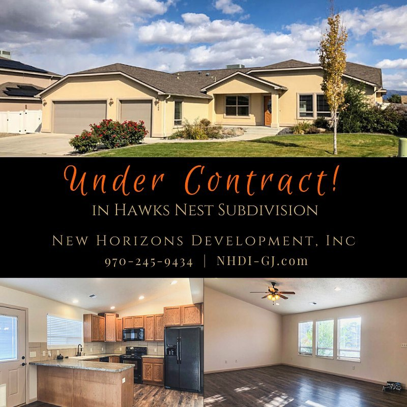 164 Winter Hawk is back under contract!  Only one 3 bedroom home left available in Hawks Nest! There's still time to be in by Christmas – give us a call!  #hawksnestsubdivision #undercontract #grandjunctionrealestate