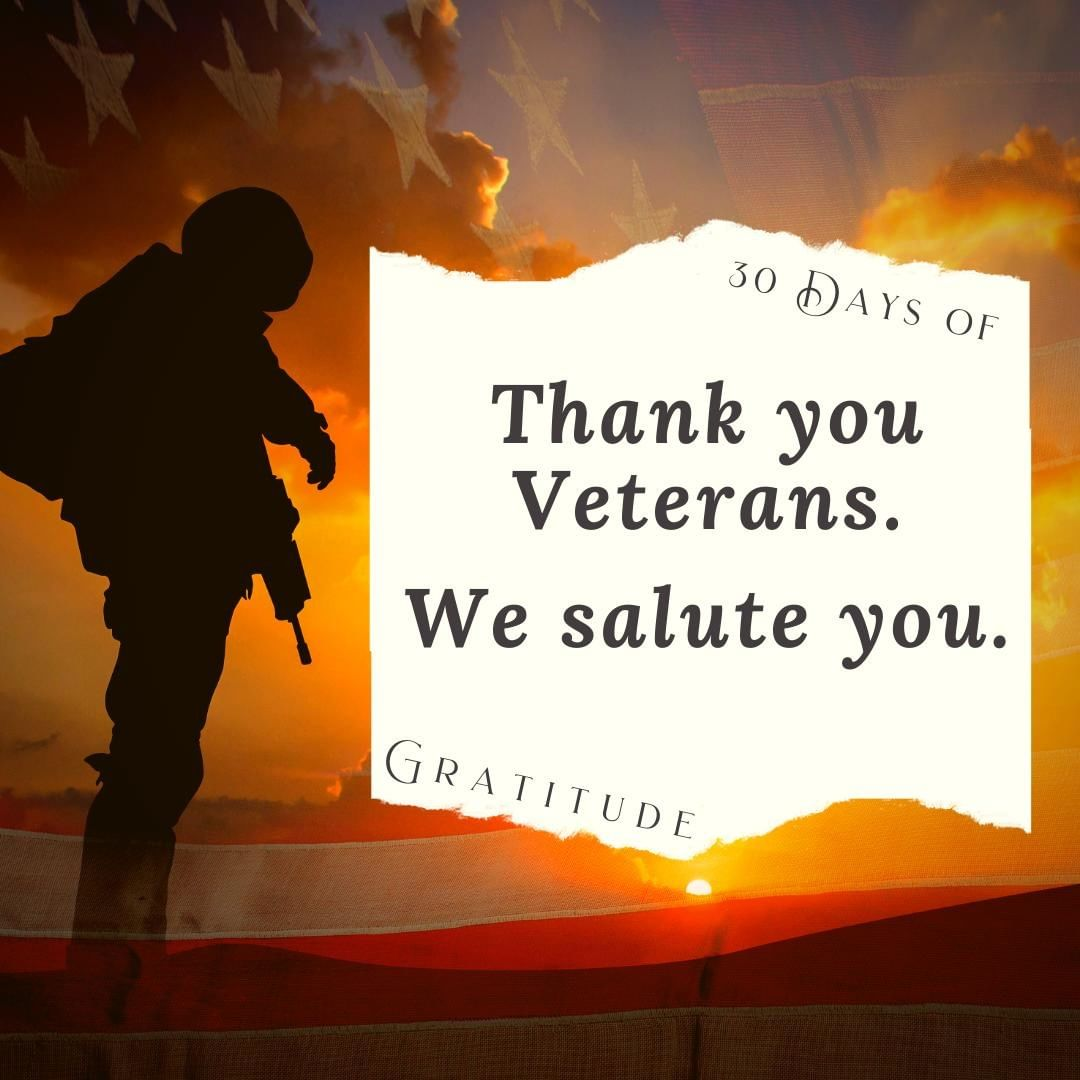 Today we honor those who have served in our military to protect the freedoms we enjoy.⁣ ⁣ There are not enough words to express the gratitude that we feel, and a simple Thank You never feels like enough.⁣ ⁣ Today we honor you.⁣ ⁣ ⁣ #30daysofgratitude #thankful #blessed #grateful #gratitudechallenge #gratitude #thanksgiving #veteransday #thankyouveterans