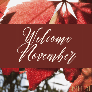 Welcome to November - the month of gratitude!