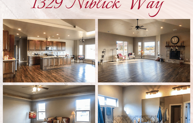 1329 Niblick Way, Fruita is a 4 bedroom, 2.5 bath, 2447 sq. ft. ranch-style home in Fruita with a 3-5 car garage + RV parking. Surrounded by the Adobe Creek National Golf Course, the views will never be blocked! Call us today to take a look! Listed by: Janet Elliott, NHDI. 970-245-9434 | Info@NHDIGJ.com