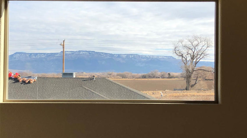 Gorgeous view of the Grand Mesa from the upstairs family room of 2996 Osprey Way.