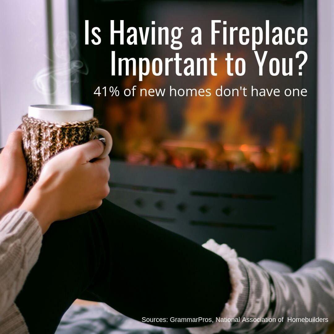 There's nothing like a warm fire on a cold winter evening. Don't you agree? ⁣ ⁣ It creates a great atmosphere for gatherings, or the perfect place to curl up with a warm beverage and a good book!⁣ ⁣ If a fireplace is high on your list, let us know! We can specifically look for one when we search for homes.