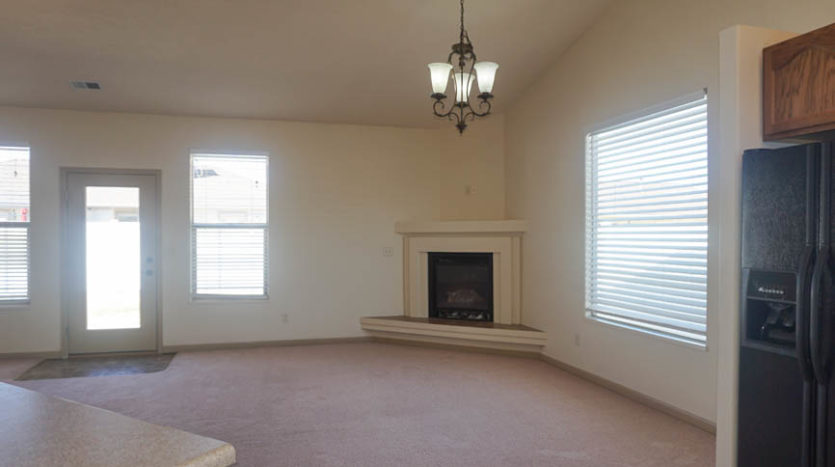 The dining room is part of the open comcept living area in 187 Sun Hawk Drive.