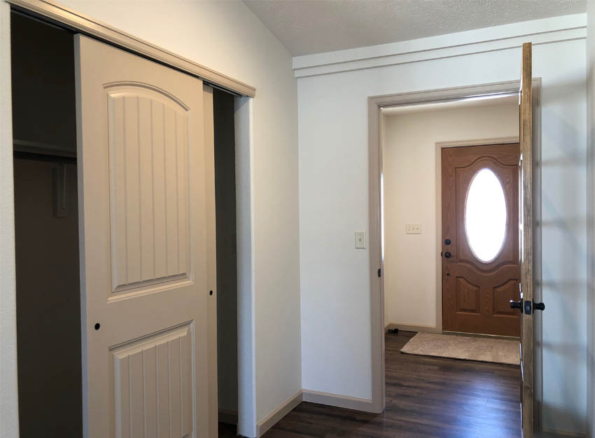 Airlock entry and coat closet in 183 Winter Hawk Drive.