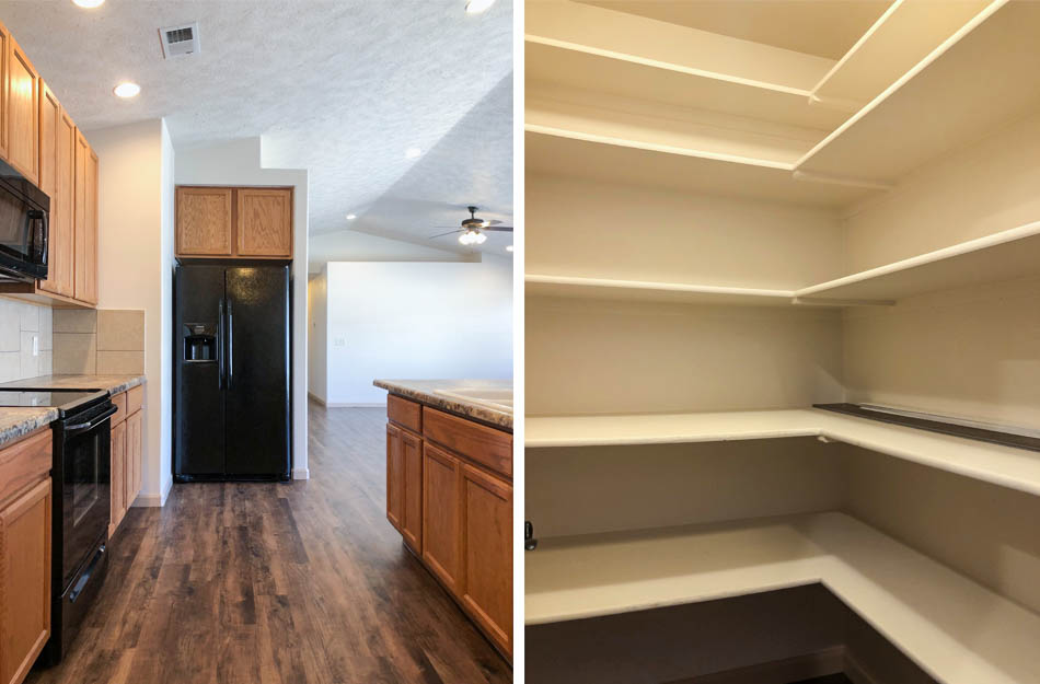 The kitchen and walk-in pantry of 183 Winter Hawk Dr.