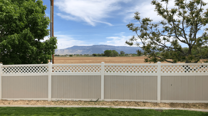 The gorgeous view of the Grand Mesa from the back deck of 170 Sun Hawk Drive