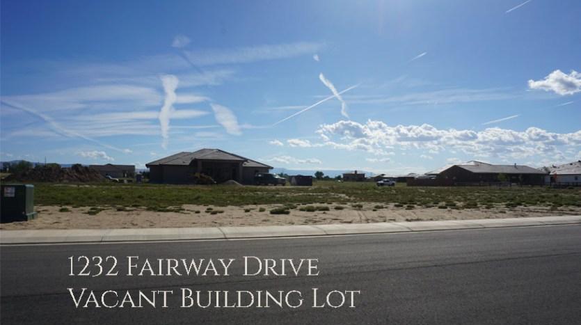 1232 Fairway Drive is a ⅓ acre vacant building lot in Adobe Falls Subdivision in Fruita, Colorado
