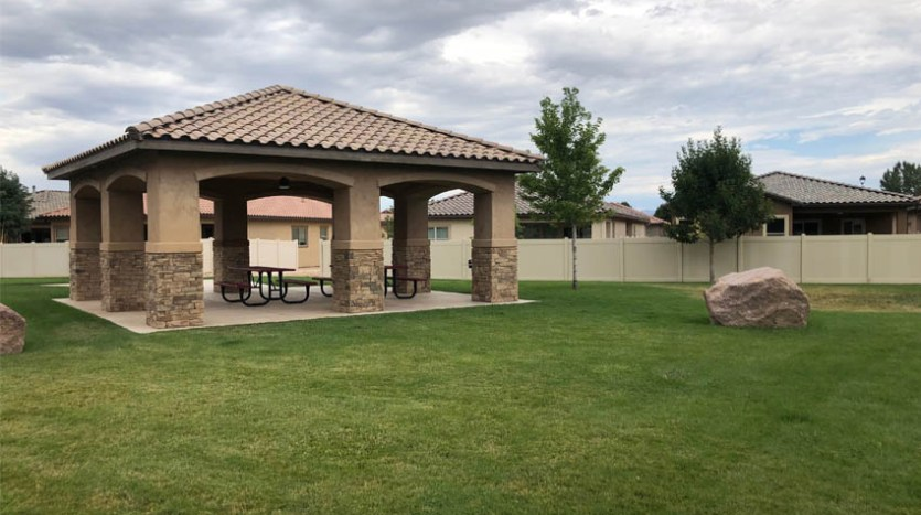The community park & gazebo of Mesa Estates.