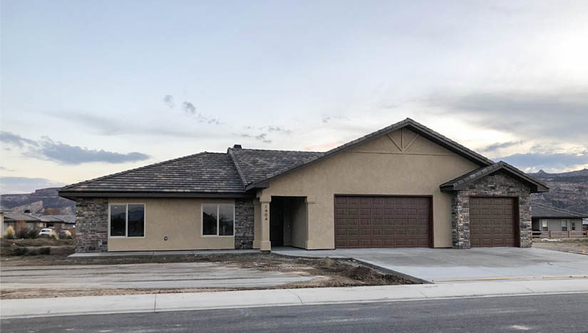 1404 Shoreline Drive is a 3 bedroom, 2 bath home in Fruita, CO. It has an open concept living area, covered front porch, back patio, 3-car garage + RV parking. The kitchen includes appliances.