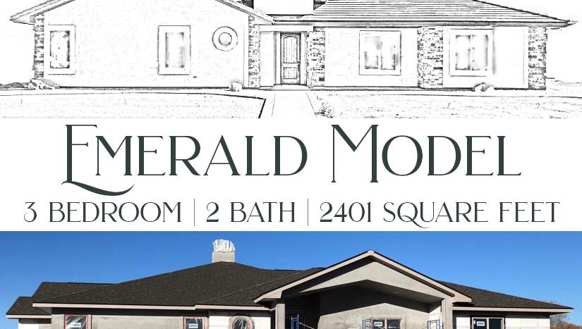 Emerald Model - 3 bedroom, 2 bath executive home in Emerald Ridge Estates.