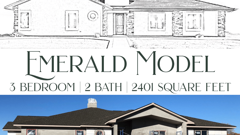 Emerald Model - 3 bedroom, 2 bath executive home in Emerald Ridge Estates.