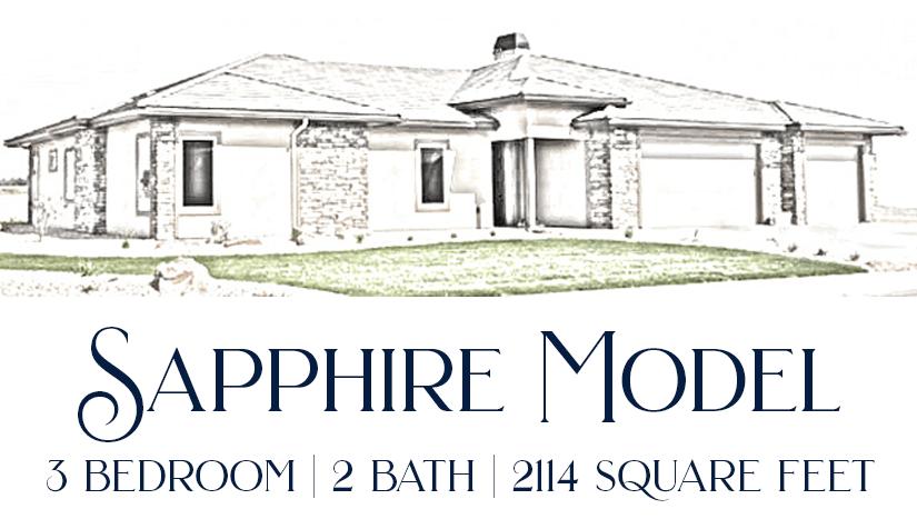 Sapphire Model - 3 bedroom, 2 bath executive home in Emerald Ridge Estates