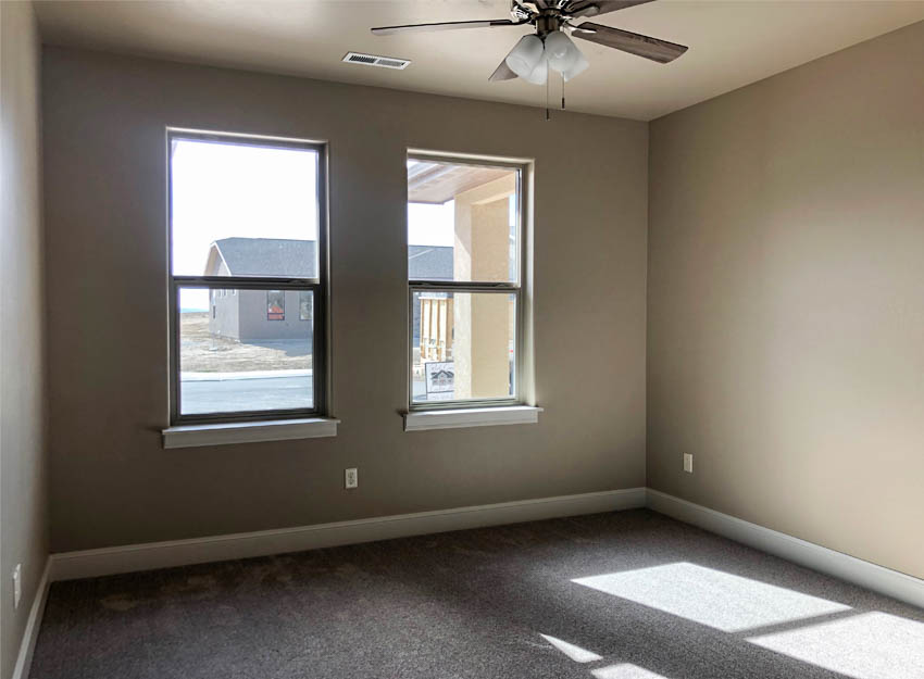 The front bedroom of 852 Fire Agate looks out onto Fire Agate Lane.