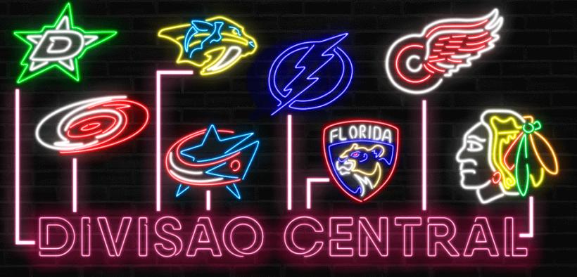 Equipes que compõem a Divisão Central da NHL em 2021