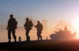 A group of soldiers