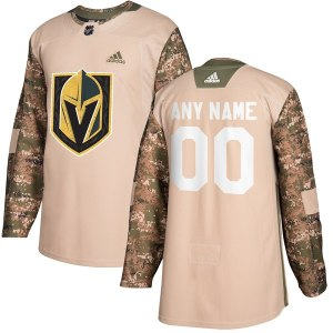 Men's Vegas Golden Knights adidas Camo Veterans Day Custom Practice Jersey