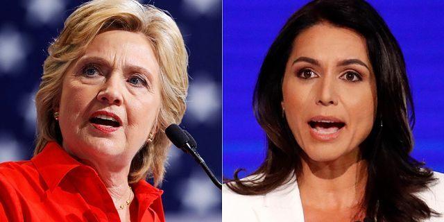 Hillary Clinton Tulsi Gabbard Reuters AP