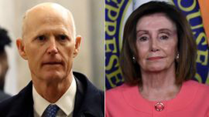 Rick Scott Nancy Pelosi AP