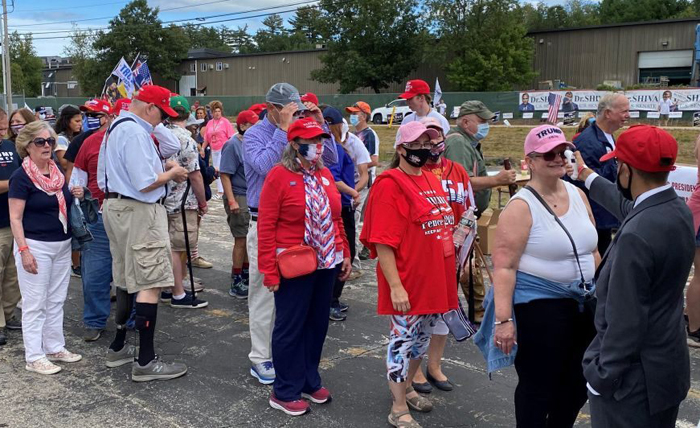 Trump supporters lining up for New Hampshire rally say GOP convention will 'sway' voters