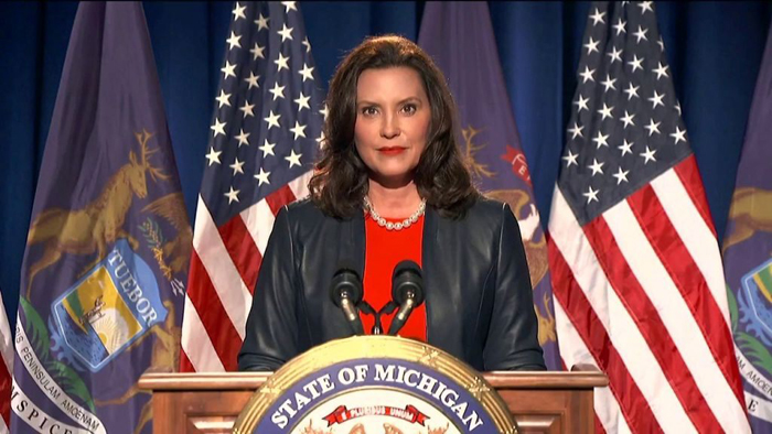 Gretchen Whitmer mouths expletive on 'hot mic,' compares DNC to 'Shark Week' before convention speech