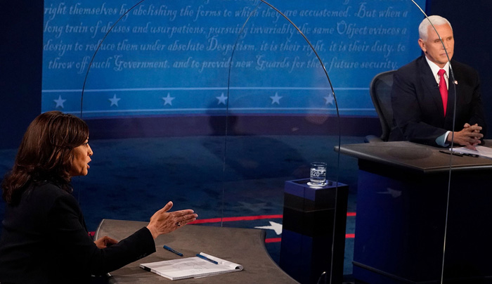 Vice presidential debate: Harris, Pence spar on plexiglass-divided stage over coronavirus, Supreme Court
