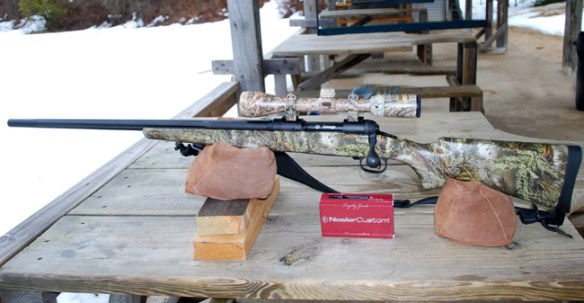 Savage Model 10 Action, trigger and scope best image on bench