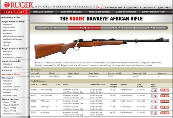 375 ruger web site