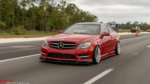 Mercedes C-Class coupe NIA Side Splitters. 2012 2013 2014 2015